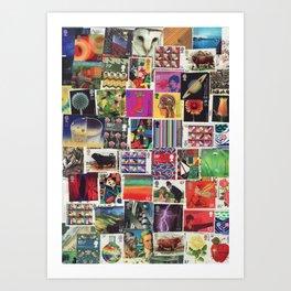 British Stamp Collage Two Art Print