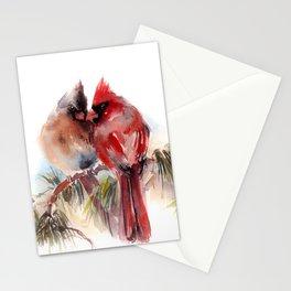 Cardinal Birds Couple Stationery Cards