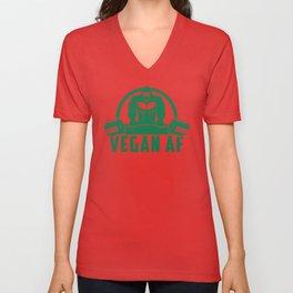 Vegan AF Muscle Gorilla - Funny Workout Quote Gift Unisex V-Neck
