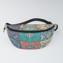 Arabic tile pattern Fanny Pack
