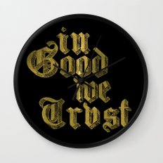 in Good we Trust Wall Clock