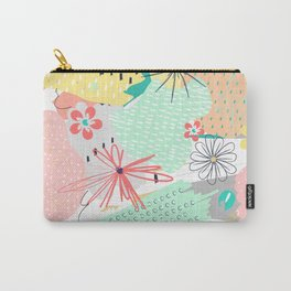 Modern creative abstract floral paint Carry-All Pouch