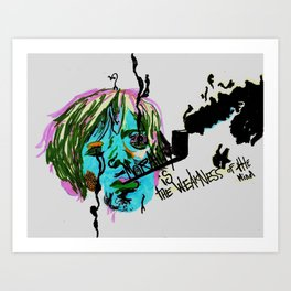Rimbaud-Morality is the weakness of the mind-  Art Print