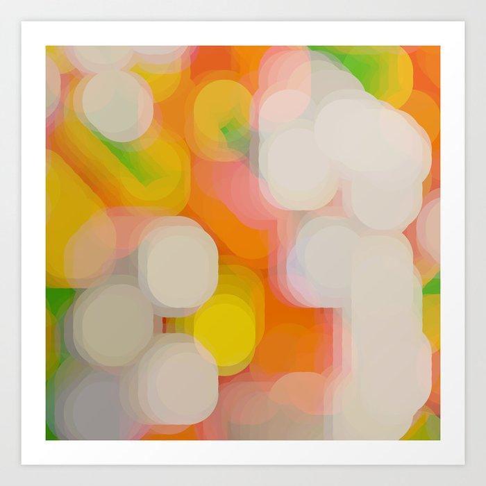 shimmering lights Art Print