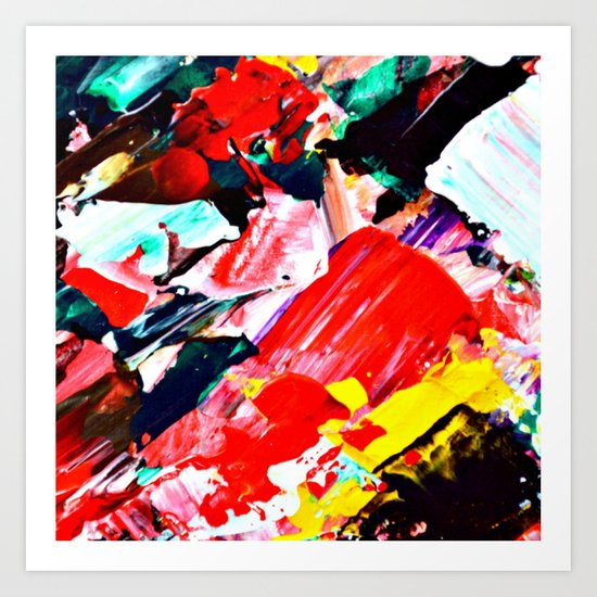 Red Intersections Art Print
