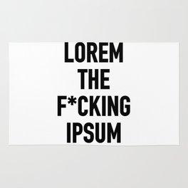 LOREM THE F*UCKING IPSUM Rug