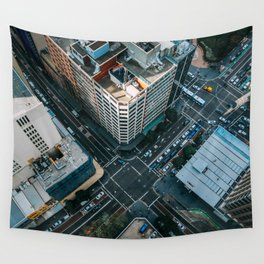 New York City Skyscaper View Wall Tapestry