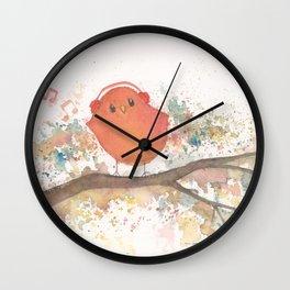 Birds in Music Wall Clock