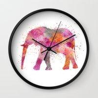 artsy Wall Clocks featuring Artsy Elephant by LebensART