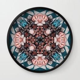 Art nouveau flower picture Wall Clock