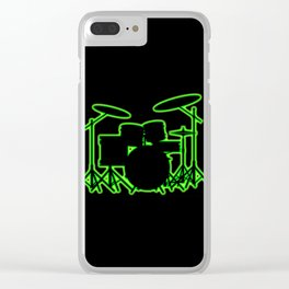 Neon Drum Kit Clear iPhone Case