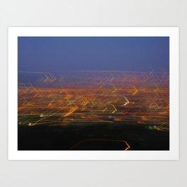 Runyon Lights Art Print
