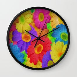 Crazy About Dasies Wall Clock