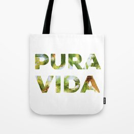Pura Vida Costa Rica Palm Trees Tote Bag