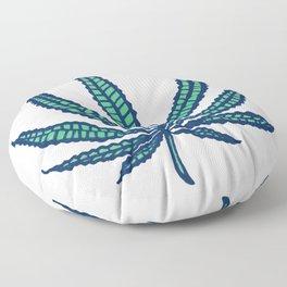 Marijuana leaf illustration hand drawn cannabis tapestry Floor Pillow
