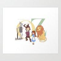 oz Art Prints featuring OZ by Little Moon Dance