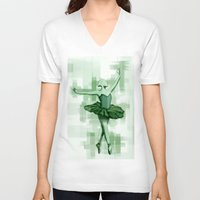 grace V-neck T-shirts featuring Grace by Carles Marsal