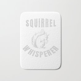 Squirrel Whisperer Gift Vintage Cute Squirrel Lover Gifts Bath Mat