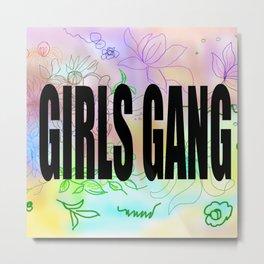 girls gang . Illustration Metal Print