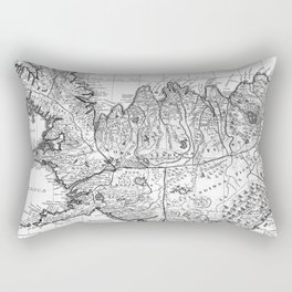 Vintage Map of Iceland (1761) BW Rectangular Pillow