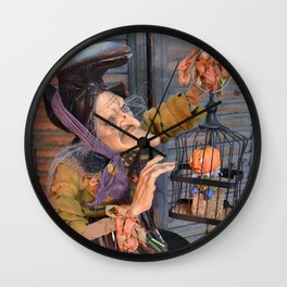 Rucus Studio Maddie the Eccentric Witch Wall Clock