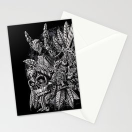 Aztec Great Lizard Warrior 1 (Triceratops) Stationery Cards