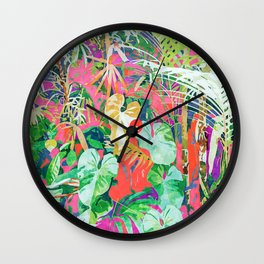 Find Me Where The Tropical Things Are #painting #botanical Wall Clock