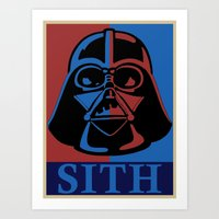 sith Art Prints featuring Sith lord by coolz77