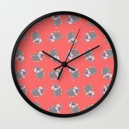 Baby Elphant Wall Clock
