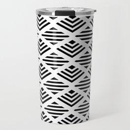 LUNA DIAMOND BLCK AND WHITE BY SUBGRL Travel Mug