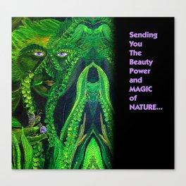 Garden Guardians Gnome Fairy Violet Tetrahedron Canvas Print