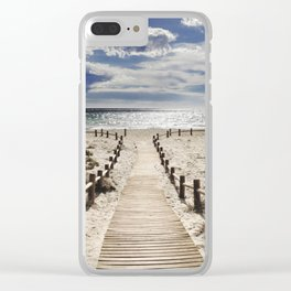"""Cabo de Gata"". Square.  Retro serie Clear iPhone Case"