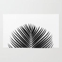 BLACK LEAVES ON WHITE Rug