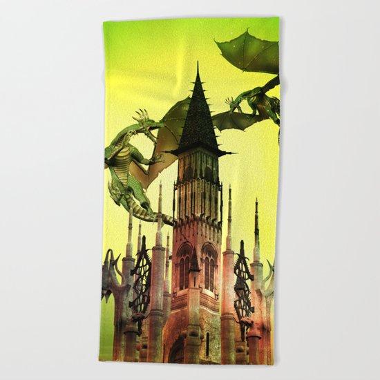 Flying dragon  Beach Towel