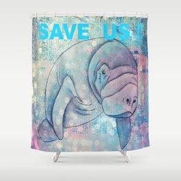 Whimiscal Manatee Shower Curtain