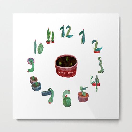 cactus clock Metal Print