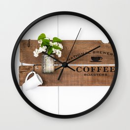 National Brewers Coffee Sign Wall Clock