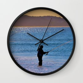 Fishing Beach Wall Clock
