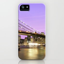 Brooklyn Bridge at night. New York iPhone Case