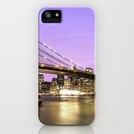 Brooklyn Bridge at night. New York iPhone Case