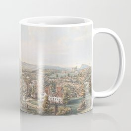Vintage Pictorial Map of Springfield MA (1851) Coffee Mug