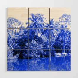 Florida in Blue Wood Wall Art