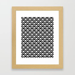 Black and white 2 , cat paw prints Framed Art Print