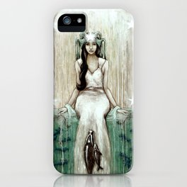 Swim Beyond // Mermaid Whale Moon Stars Sharks Ocean Sea Underwater Goddess Mother Beach B iPhone Case