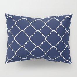 Navy Blue Moroccan Pillow Sham
