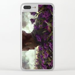 Isaac lisianthus Clear iPhone Case