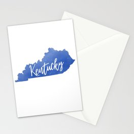 Kentucky Map State Watercolor Print Stationery Cards