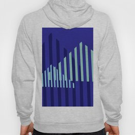 Abstract Blue Peaks Minimalism Hoody
