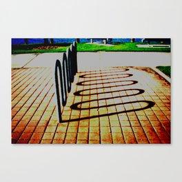 Rack Shadow Canvas Print