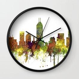 Indianapolis, Indiana Skyline SG - Safari Buff Wall Clock